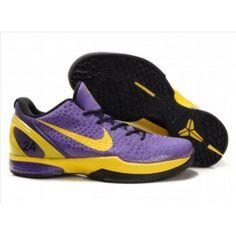 the latest 74243 bc21e Nike Zoom Kobe VI Mens Basketball Shoe Yellow Purple Black Kobe Bryant  Shoes, Kobe Shoes