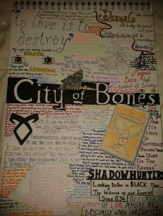 The best quotes from City of Bones. Im planning on doing one of these for each of the books in the series. Sorry if I got any of the quotes wrong!