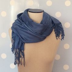 Beautiful Blue Scarf Worn once or twice. Great condition. Accessories Scarves & Wraps