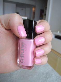 Chrome Girl nail lacquer in Pillow Talk.   Pink nail polish, 4 -free, non-toxic