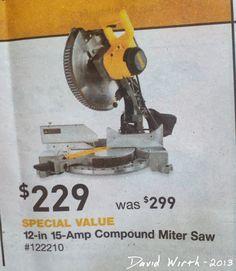 davewirth.blogspot.com/2013/11/dewalt-12-compound-miter-saw-dw715.html    Dewalt, the best miter saw you can buy today.