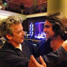 Aww Peter Capaldi & Luke Pasqualino