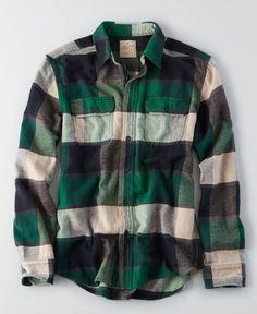 AEO Flagstaff Flannel, Men's, Green