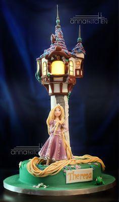 Tangled Rapunzel #cake