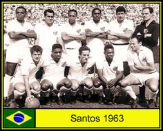 Santos of Brazil team group in 1963.