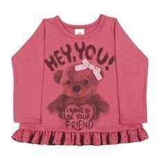 Wal-Mart.com USA LLC  Baby Girl T-Shirt Long Sleeve Graphic Tee Newborn Infant Pulla Bulla 3-12 Months