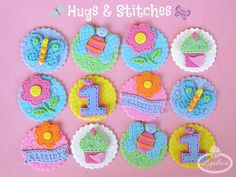 Hugs & Stitches Cupcake Toppers