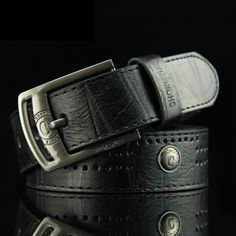 5.97$  Watch here - http://di31o.justgood.pw/go.php?t=178306102 - Stylish Button and Small Hole Embellished Letter Pattern Pin Buckle Men's PU Belt