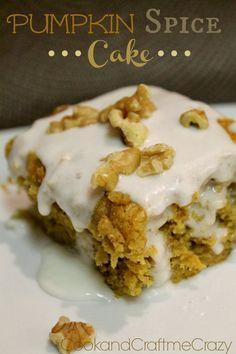 Cook and Craft Me Crazy: Pumpkin Spice Cake