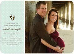 Photo baby shower invitations, Tiny Footprints