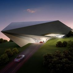 Futuristic Architecture, Prototype villa for golf and spa club, Dubrovnik by Zaha Hadid Architects Zaha Hadid Architecture, Futuristic Architecture, Amazing Architecture, Contemporary Architecture, Interior Architecture, Folding Architecture, Zaha Hadid Design, Architectes Zaha Hadid, Building Design