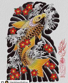 Koi Dragon Tattoo, Koi Fish Tattoo, Koi Tattoo Sleeve, Chest Tattoo Japanese, Japanese Tattoo Designs, Tiger Tattoo Design, Asian Tattoos, Japan Tattoo, Japanese Koi