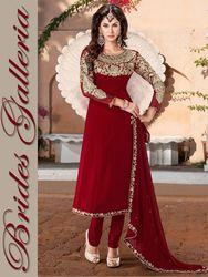 Red Faux Georgette Churidar Kameez Designer Suit Bgsu 8847 Us 70 04