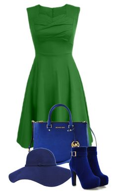 Green and blue by monika1555 on Polyvore featuring polyvore fashion style Michael Kors clothing