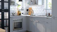 LERHYTTAN ljusgrå Compact Living, Kitchen Cabinets, House Design, House Styles, Home Decor, Anna, Houses, Kitchens, Kitchen Inspiration