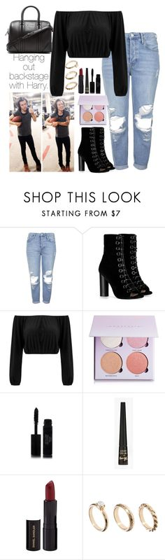 """""""Hanging out backstage with Harry."""" by onedirection-outfits1d ❤ liked on Polyvore featuring Topshop, Barbara Bui, Anastasia Beverly Hills, Chanel, Barry M, Daniel Sandler, ASOS and Givenchy"""