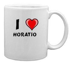 Keramische Tasse mit Aufschrift Ich liebe Horatio (Vorname/Zuname/Spitzname) - http://geschirrkaufen.online/shopzeus/keramische-tasse-mit-aufschrift-ich-liebe-zuname-2