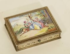 Lot 024 S57 - European Silver Enamel Box Very Detailed - Est. $1000-1500 - Antique Reader