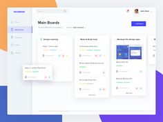 Learning Design Dashboard designed by M Rizky Edriansyah for OWW. Connect with them on Dribbble; Dashboard Ui, Dashboard Design, Ui Ux Design, Intranet Design, User Interface Design, Flat Design, Material Design Dashboard, Design Layouts, Graphic Design