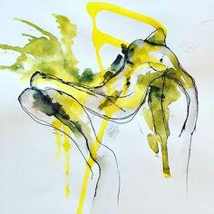 Tinte und ecoline auf Papier . . . . #aquarellieren  #ecoline #geburtstagsgeschenk #artstudio #creativeprocess #bettinaobristART #inspired #instaarts #studiotime #art #expressionismus #Frühling #canoneos750d Instagram, Art, Dyes, Paper, Expressionism, Drawing S, Photo Illustration, Art Background, Kunst