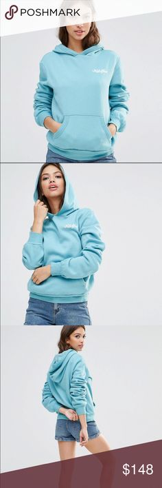 🆕 Wildfox Scripted Malibu Hoodie size M NWT Wildfox Couture Scripted Malibu Hoodie/Pullover in raindrop blue. Size Medium. Oversized fit. 'Wildfox' is scripted on the front in white. Please view all photos and ask any questions you may have prior to purchasing 💙   🚫trades🚫 ✅Offers Considered Via the Offer Button✅ Wildfox Tops Sweatshirts & Hoodies