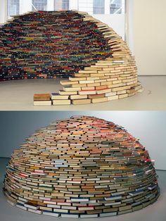 Igloo of books