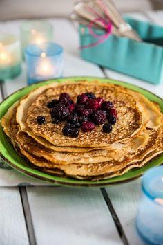 Glutenfria proteinpannkakor Tasty, Yummy Food, Gluten Free Recipes, Free Food, Pancakes, Cooking, Breakfast, Cuisine, Morning Coffee