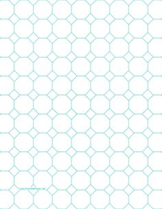 Printable Octagon Graph Paper