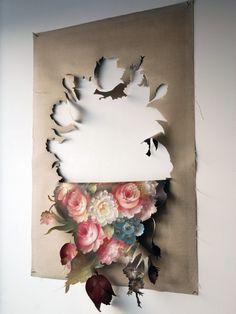 Natura morte I by Sybrandy Studio via studiosygbrandy. Art Floral, Motif Floral, Art Du Collage, Graffiti, Art Diy, Kirigami, Graphic, Installation Art, Oeuvre D'art