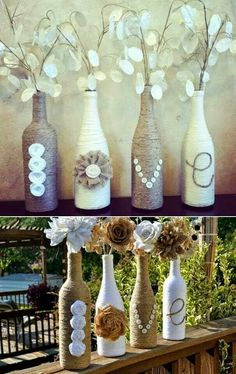 Love this idea for empty wine bottles