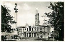 Italy 1930s Real Photo Postcard Roma Rome - Basilica S. Maria Maggiore tramway