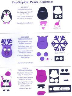 Owl punch christmas ideas  Stampin' Up!