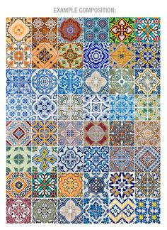 Portuguese Tiles Azulejos Stickers