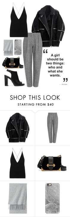 """""""street style """"a girl should be two things..."""""""" by veronicagnzlz on Polyvore featuring moda, H&M, Acne Studios, Dion Lee, Prada, Uniqlo, Casetify y Michael Kors"""