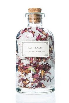 50 Little Beauty Luxuries You Can Actually Afford #refinery29 http://www.refinery29.com/affordable-beauty-products#slide-1 Besides being ridiculously beautiful, these blooming bath salts are rich in rose oil, a heavenly scent with skin-hydrating properties. Sprinkle a handful of salts in a warm bath, and tune out the world while you enjoy soaking in a floral garden.Mullein & Sparrow Mini Rose Bath Salts, $24, available at