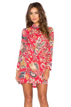 ROLLA'S Eastern Long Sleeve Dress in Faded Red | REVOLVE