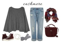 """""""simply cashmere"""" by loloren ❤ liked on Polyvore featuring The Row, J Brand, TravelSmith, Converse, IMoshion and Barbour"""