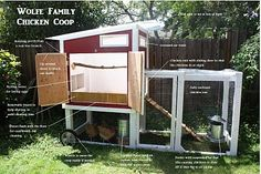 A chicken coop also known as a chicken ark is a building or structure where someone keeps chickens. The interior of a coop (or ark) usually. Cute Chicken Coops, Mobile Chicken Coop, Chicken Coop Designs, Backyard Chicken Coops, Chicken Coop Plans, Building A Chicken Coop, Chickens Backyard, Chicken Coup, Urban Chickens