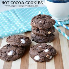Amy's Cooking Adventures: Hot Cocoa Pudding Cookies #Choctoberfest