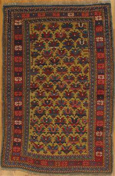 "Zeikhour rug,Kuba District,Eastern Caucasus,circa 1880, 4'.7""x3'.2"" (140x97 cm)."