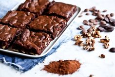 gluten-free brownies / by Kitchenette Gluten Free Brownies, Gluten Free Baking, I Love Food, Sweet Recipes, Food To Make, Sweet Treats, Bakery, Food Porn, Food And Drink