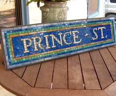NYC Subway Mosaic Sign/Plaque - Prince St. Replica / Name / Address - New York City Subway. $168.00, via Etsy.