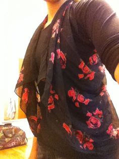wear everyday: DIY: Scarf to Vest top  No sew and you don't damage your scarf!!