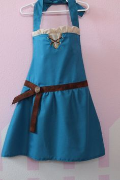 Brave Merida inspired dress up apron princess by ThreeDutchDivas, $30.00