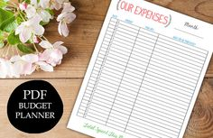 INSTANT DOWNLOAD printable expense tracker budget planner organizer monthly diy pdf jpeg template family budget $5