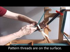 http://durhamweaver64.blogspot.co.uk/ This video shows how to weave narrow bands which have three background threads in between each pattern thread. This typ...