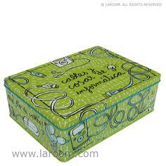 """Caja de metal Laroom: Consíguela gratis en el catálogo de puntos estrella de """"la caixa"""" ! - más productos Laroom en www.laroom.com - regalos Laroom en www.facebook.com/laroom"""