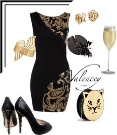 """""""Golden Girl"""" by valencey ❤ liked on Polyvore"""