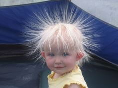 A spark of static electricity can measure up to three thousand (3,000) volts. #ShockingFacts