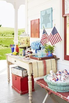 These inexpensive of July party decorations are what you need to make your Fourth of July celebration even more festive. Cheap Fourth of July party decor is within your reach—we promise! Fourth Of July Decor, 4th Of July Party, July 4th, Patriotic Party, 30 July, Patriotic Crafts, Memorial Day Decorations, 4th Of July Decorations, House Decorations